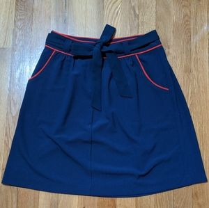 Tommy Hilfiger Navy Red Piping Skirt